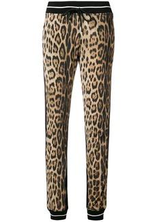 Roberto Cavalli leopard print track pants