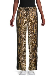 Roberto Cavalli Leopard-Print Track Pants
