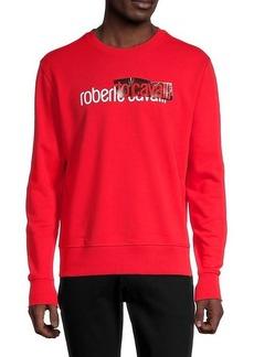Roberto Cavalli Logo Cotton-Blend Sweatshirt