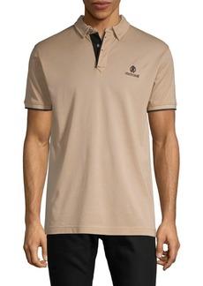 Roberto Cavalli Logo Cotton Polo