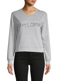 Roberto Cavalli Logo Embroidery Sweatshirt