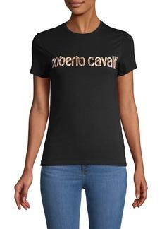 Roberto Cavalli Logo Graphic Cotton-Blend Tee