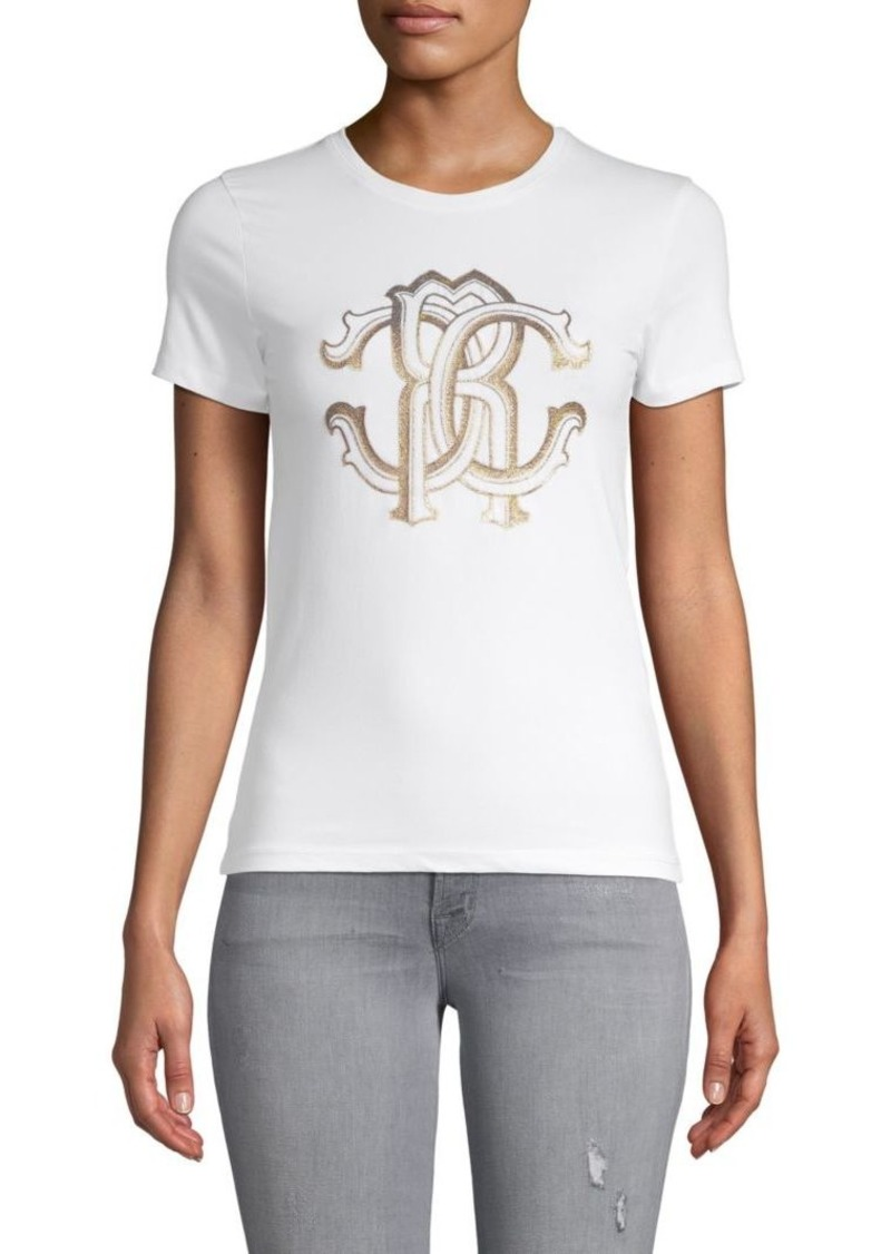 Roberto Cavalli Logo Graphic Stretch Tee