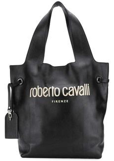 Roberto Cavalli logo hobo bag