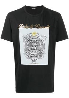 Roberto Cavalli logo insignia print T-shirt