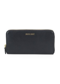 Roberto Cavalli Logo Leather Continental Wallet