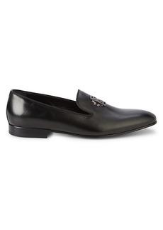 Roberto Cavalli Logo Leather Loafers