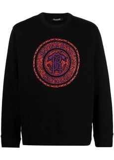 Roberto Cavalli logo medallion-print sweatshirt