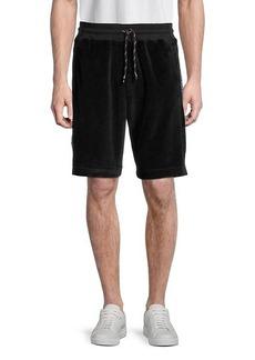 Roberto Cavalli Logo-Panel Drawstring Shorts