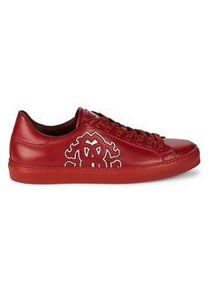 Roberto Cavalli Logo Patch Leather Sneakers