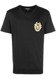 Roberto Cavalli logo patch T-shirt