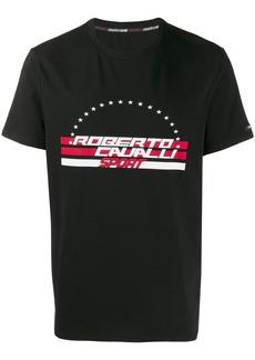 Roberto Cavalli logo print crew neck T-shirt
