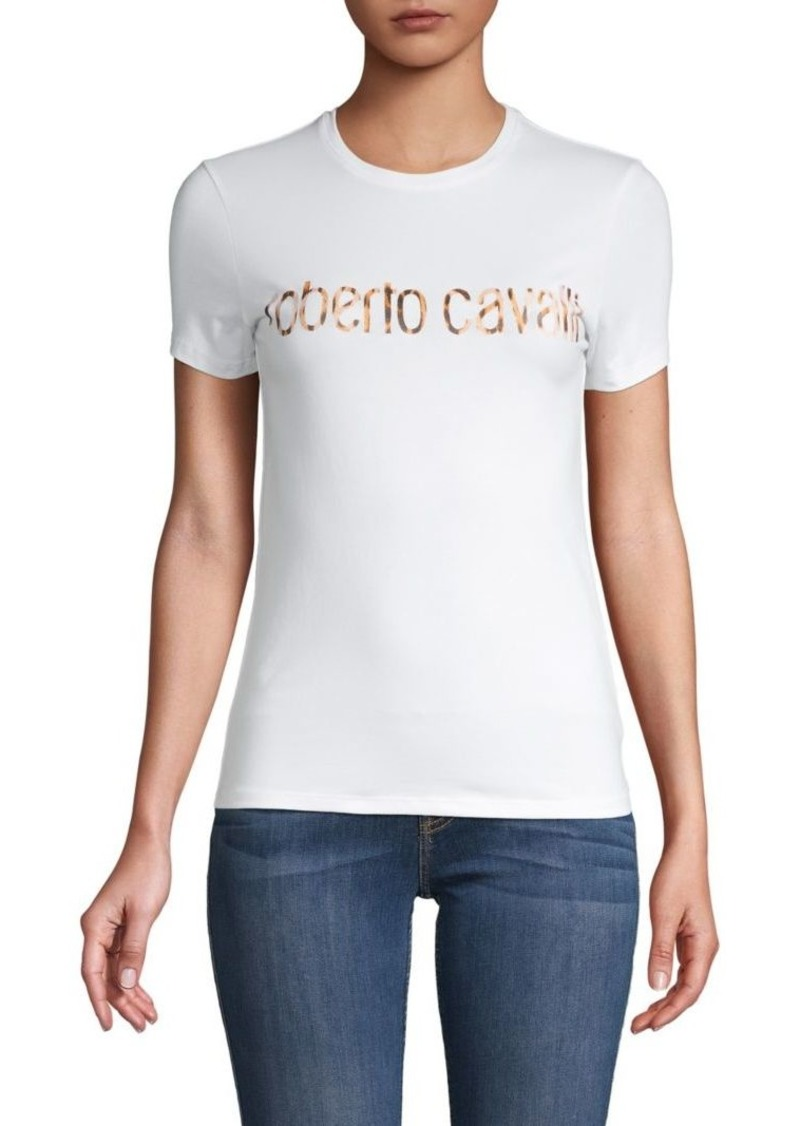 Roberto Cavalli Logo Stretch-Cotton Tee