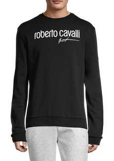 Roberto Cavalli Logo Stretch Sweatshirt