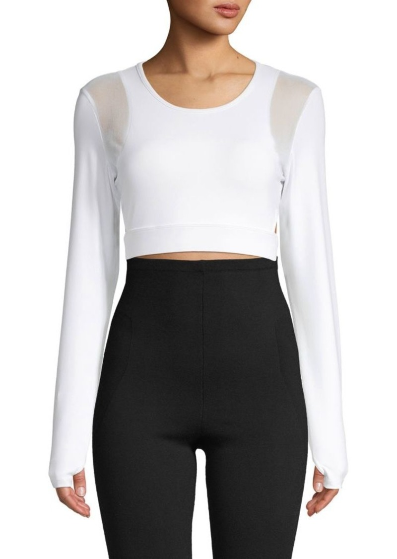 Roberto Cavalli Long-Sleeve Cropped Top