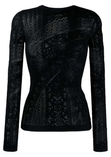 Roberto Cavalli long sleeve lace top
