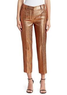 Roberto Cavalli Lurex Cropped Trousers