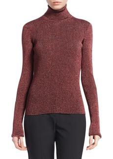 Roberto Cavalli Lurex Ribbed Turtleneck Sweater