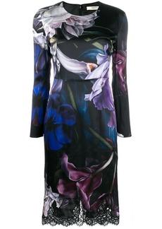 Roberto Cavalli Marchito print long-sleeved dress