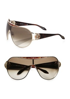 Roberto Cavalli Marotiri Oversized Shield Sunglasses/Brown