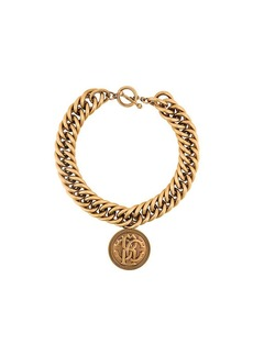 Roberto Cavalli medallion chunky chain necklace