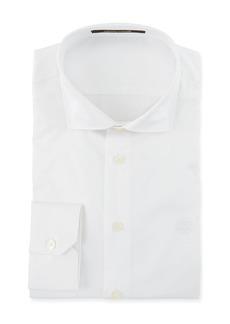 Roberto Cavalli Men's Comfort-Fit Solid Cotton Dress Shirt