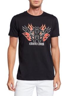 Roberto Cavalli Men's Logo Graphic Short-Sleeve T-Shirt