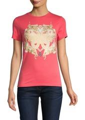 Roberto Cavalli Metallic Crest Graphic T-Shirt