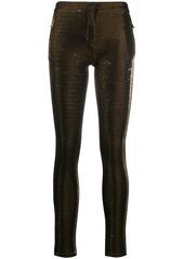 Roberto Cavalli metallic skinny trousers