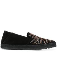 Roberto Cavalli microstud slippers