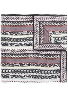 Roberto Cavalli mixed print scarf