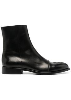 Roberto Cavalli monogram-embroidered ankle boots