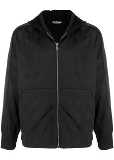 Roberto Cavalli monogram-jacquard zip hoodie