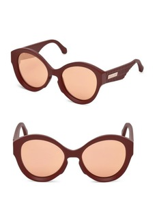 Roberto Cavalli Oversized Injected Cat Eye Sunglasses/58MM