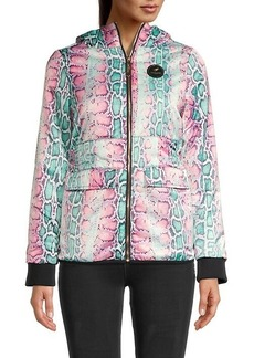 Roberto Cavalli Padded Snake-Print Jacket