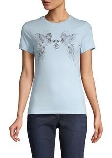 Roberto Cavalli Parrot Logo Graphic T-Shirt