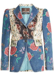 Roberto Cavalli Patchwork Denim Jacket