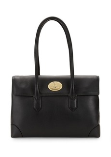 Roberto Cavalli Pebble Leather Tote Bag