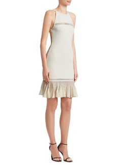 Roberto Cavalli Peplum Hem Knit Dress