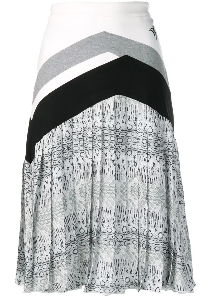 Roberto Cavalli pleated midi skirt