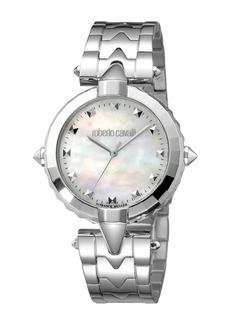Roberto Cavalli Pointed Bracelet Watch  Pearl White/Steel
