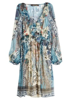 Roberto Cavalli Printed Silk Chiffon Dress