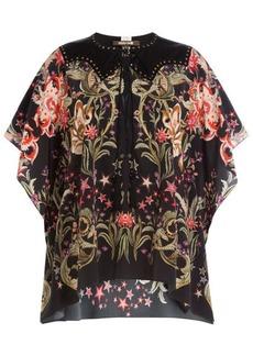 Roberto Cavalli Printed Silk Tunic Blouse