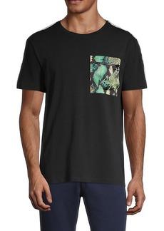 Roberto Cavalli Python-Print Pocket T-Shirt