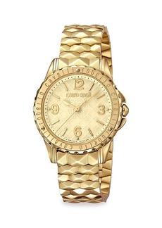 Roberto Cavalli RC-42 Goldtone Stainless Steel Bracelet Watch