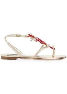 Roberto Cavalli rhinestone embellished sandals