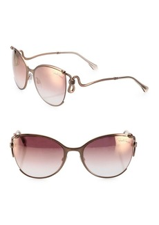 Roberto Cavalli 59MM Mirrored Cat Eye Sunglasses