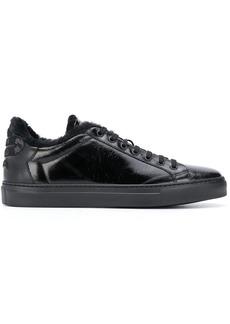 Roberto Cavalli snake detail low-top sneakers