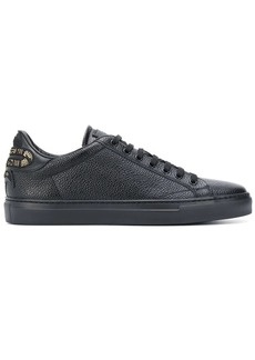 Roberto Cavalli snake patch low-top sneakers