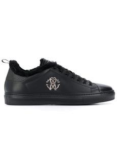 Roberto Cavalli monogram plaque low-top sneakers